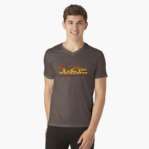 1.21 GIGAWATT? t-shirt:vneck
