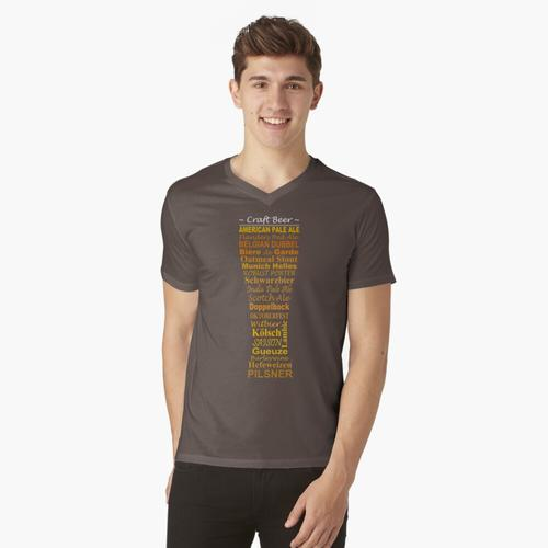 Handgemachtes Bier t-shirt:vneck