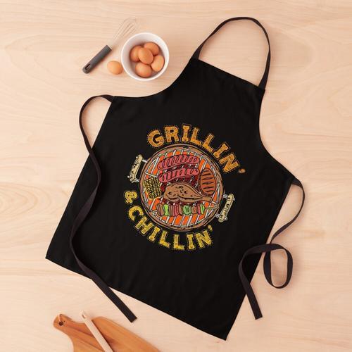BBQ Barbeque Grillin 'und Chillin' Schürze