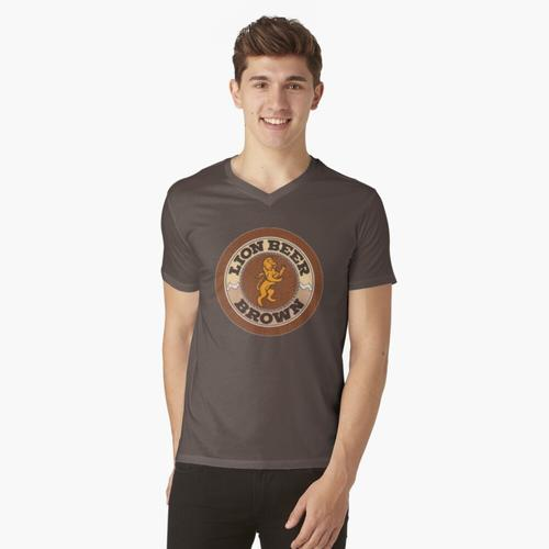 Lion Brown Bierdeckel t-shirt:vneck
