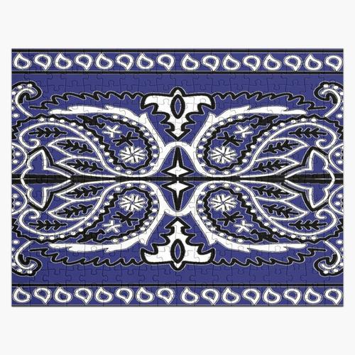 Bandana Design - Blau Puzzle