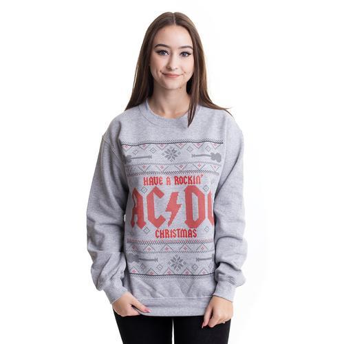 AC/DC - Have a Rockin Christmas Grey - Sweater