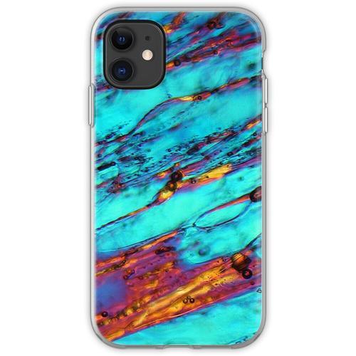 Eiskristalle unter dem Mikroskop Flexible Hülle für iPhone 11