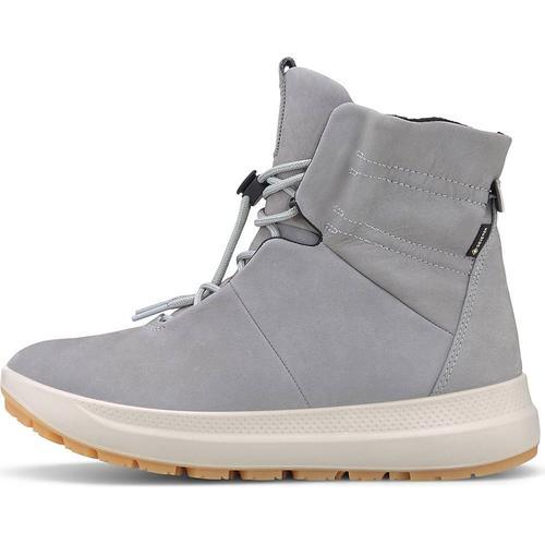Ecco, Schnür-Boots Solice in hellgrau, Boots für Damen Gr. 40