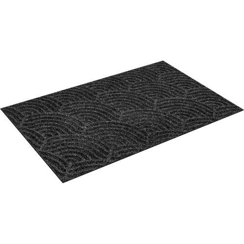 wash+dry by Kleen-Tex Fußmatte Waves, rechteckig, 8 mm Höhe, Fussabstreifer, Fussabtreter, Schmutzfangläufer, Schmutzfangmatte, Schmutzfangteppich, Schmutzmatte, Türmatte, Türvorleger, In- und Outdoor geeignet, waschbar grau Schmutzfangläufer Läufer...