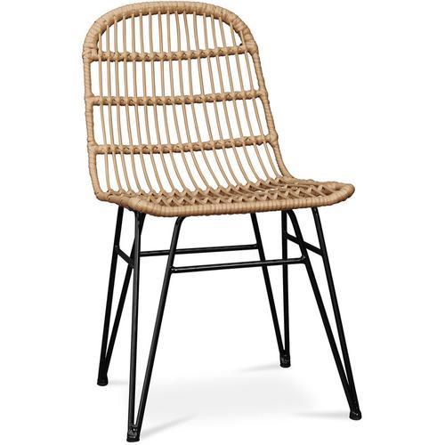Stuhl aus synthetischem Korbgeflecht Natural wood