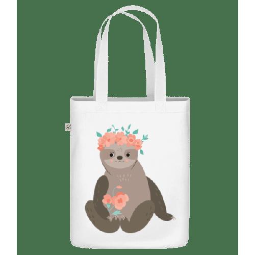 Faultier Mit Blumen - Bio Tasche