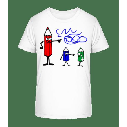 Buntstifte Blau Ist Schuld - Kinder Premium Bio T-Shirt