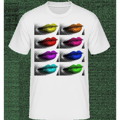 Regenbogen Lippen - Shirtinator Männer T-Shirt