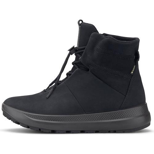 Ecco, Schnür-Boots Solice in schwarz, Boots für Damen Gr. 37