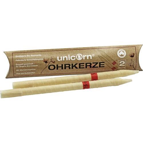 unicorn Entspannende Ohrkerzen 2 Stück Massagekerze