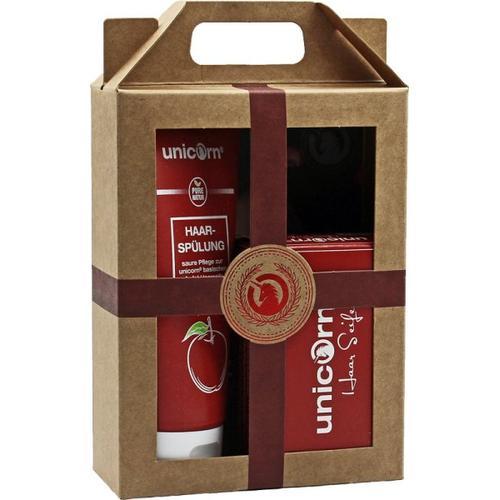 Unicorn Geschenk-Set unicorn Haarseife 100g + Spülung 150ml Haarpflegeset