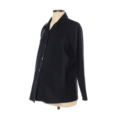 In Due Time Cardigan Sweater: Black Solid Sweaters & Sweatshirts - Size Small Maternity