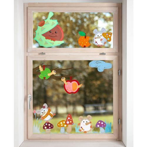 JAKO-O Fensterbild Herbstmäuschen, bunt
