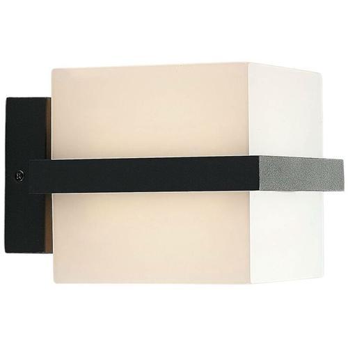 LED-Außenwandlampe Auron, würfelförmig