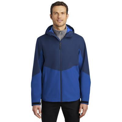 Port Authority J406 Tech Rain Jacket in Estate Blue/Cobalt Blue size XS | Polyester