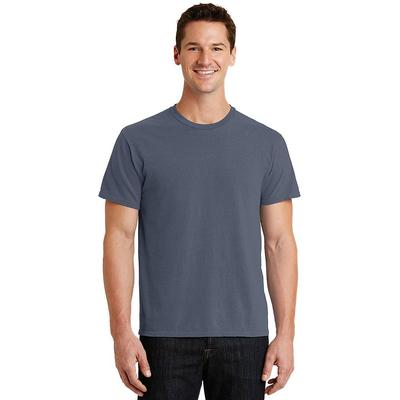 Port & Company PC099 Men's Beach Wash Garment-Dyed Top in Denim Blue size XL   Cotton
