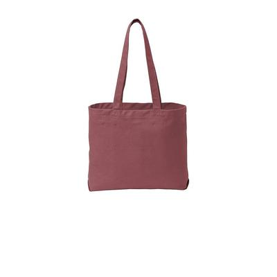 Port Authority BG421 Beach Wash Tote Bag in Red Rock size OSFA | Cotton