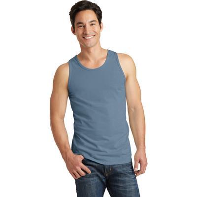 Port & Company PC099TT Men's Beach Wash Garment-Dyed Tank Top in Denim Blue size Medium | Cotton