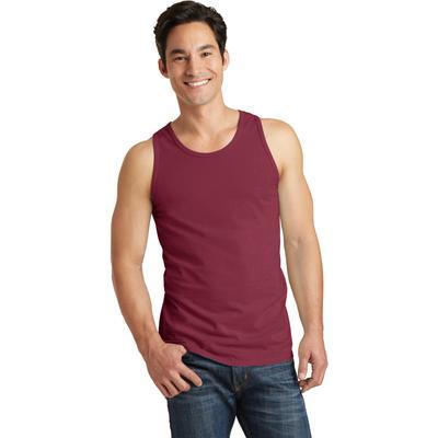Port & Company PC099TT Men's Beach Wash Garment-Dyed Tank Top in Merlot size Small   Cotton