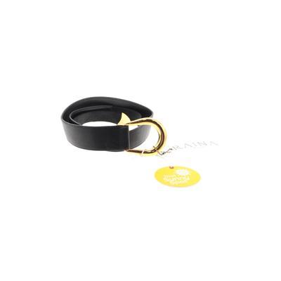Raina Belt: Black Solid Accessor...