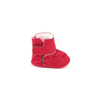 Booties: Red Solid Shoes - Size 2