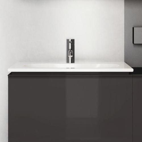 Geberit Acanto Möbel-Waschtisch Slim B: 60 T: 48 cm weiß, mit KeraTect, mit 1 Hahnloch 500640018
