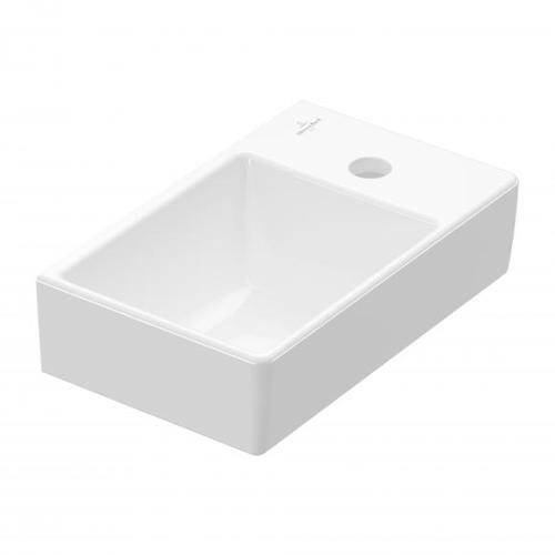 Villeroy & Boch Avento Handwaschbecken B: 36 T: 22 cm, Becken links weiß mit CeramicPlus 43003LR1