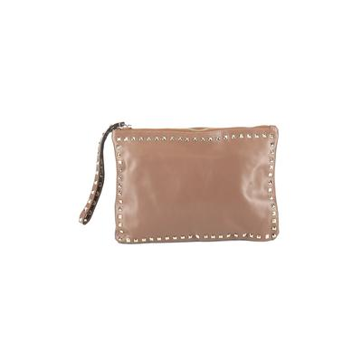 Lush Wristlet: Brown Solid Bags