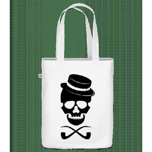 Totenkopf mit Hut - Bio Tasche