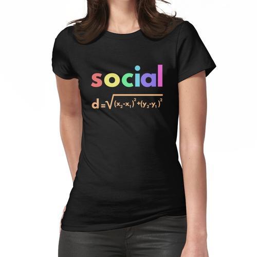 Soziale Distanzformel Math Frauen T-Shirt