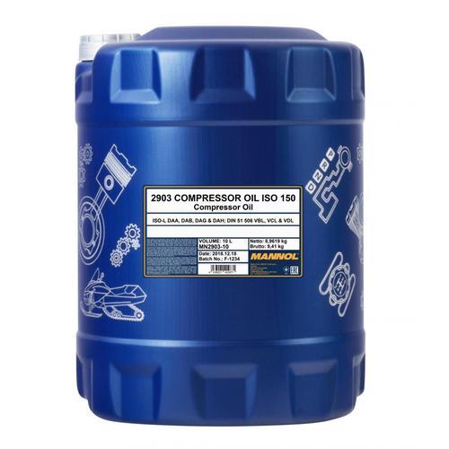 10l Mannol Kompressor Öl Iso 150 Din 51506 (vbl) Iso L-daa Iso L-dab Iso L-dag