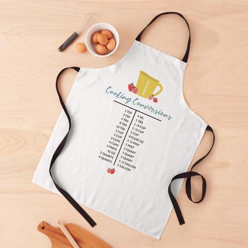 Küche Kochen Umrechnungstabelle | Gelbe Tasse Schürze