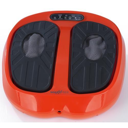 MAXXMEE Vibrationsplatte Vibrationsgerät Training & Massage 24V, 30 W, 15 Intensitätsstufen, (3 tlg.) orange Vibrationsplatten Fitnessgeräte
