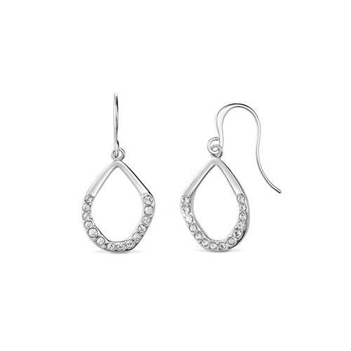 Tropfen-Ohrhänger veredelt mit Kristallen von Swarovski®