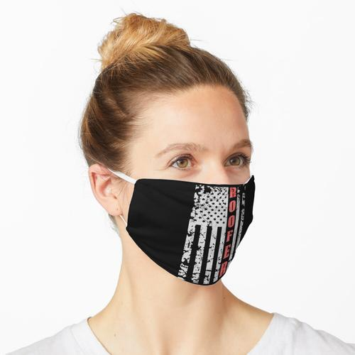 Dachdecker Grungy USA Flagge Maske