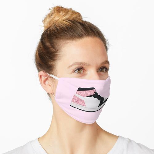Jordan 1 Sneaker Pink Leopard Print Maske