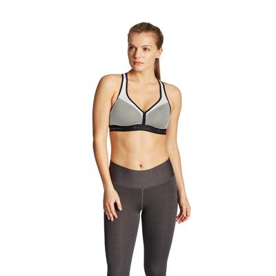 Plus Size Women's The Curvy Sports Bra by Champion in Oxford Gray White (Size M)