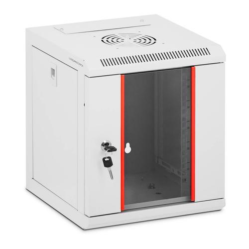 Fromm & Starck Serverschrank - 10 Zoll - 6 HE - abschließbar - bis 75 kg - grau