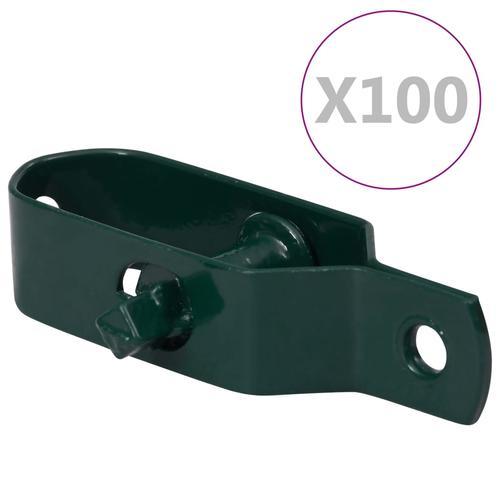 vidaXL Zaun-Drahtspanner 100 Stk. 90 mm Stahl Grün