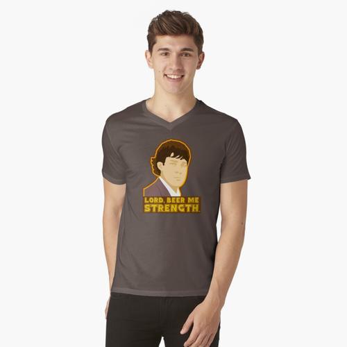 Herr, bier mich Stärke t-shirt:vneck