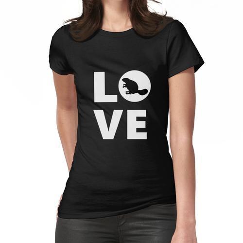 Biber-Liebes-Biber-Liebhaber-Biber-Geschenk, Biber-Biber-Biber-Schwarz-Biber-Geschenk Frauen T-Shirt