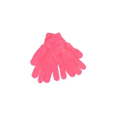 Gloves: Pink Solid Accessories
