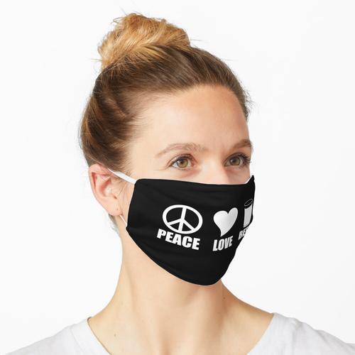 Frieden, Liebe und Bier Maske