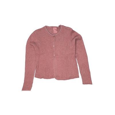 Zara Knitwear Cardigan Sweater: Pink Tops - Size 10