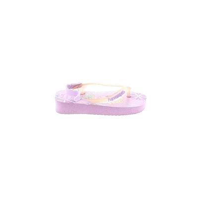 Havaianas Sandals: Purple Solid Shoes - Size 20