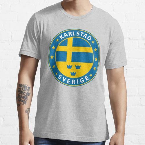 Karlstad, Karlstad Schweden, Karlstad Schweden, Karlstad Aufkleber, Stadt von Schw Essential T-Shirt