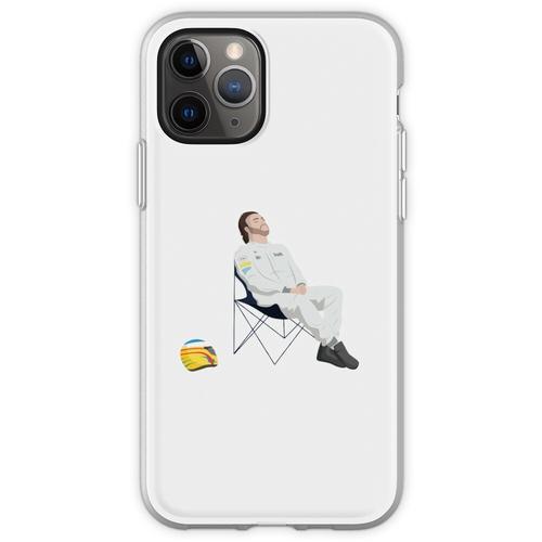 Fernando Alonso Liegestuhl F1 Flexible Hülle für iPhone 11 Pro