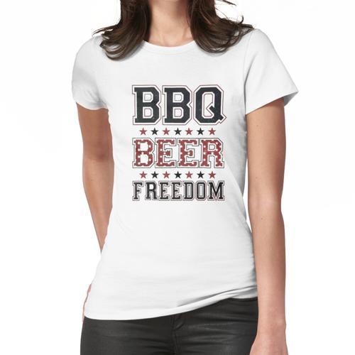 Grill Bier Freiheit, Grill, Freiheit, Grill Bier Freiheit Kerl, Grill Bier Freiheit Frauen T-Shirt