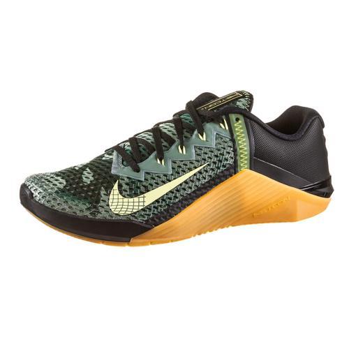 Nike Metcon 6 Fitnessschuhe Herren in black-limelight-limelight-gum med brown, Größe 42